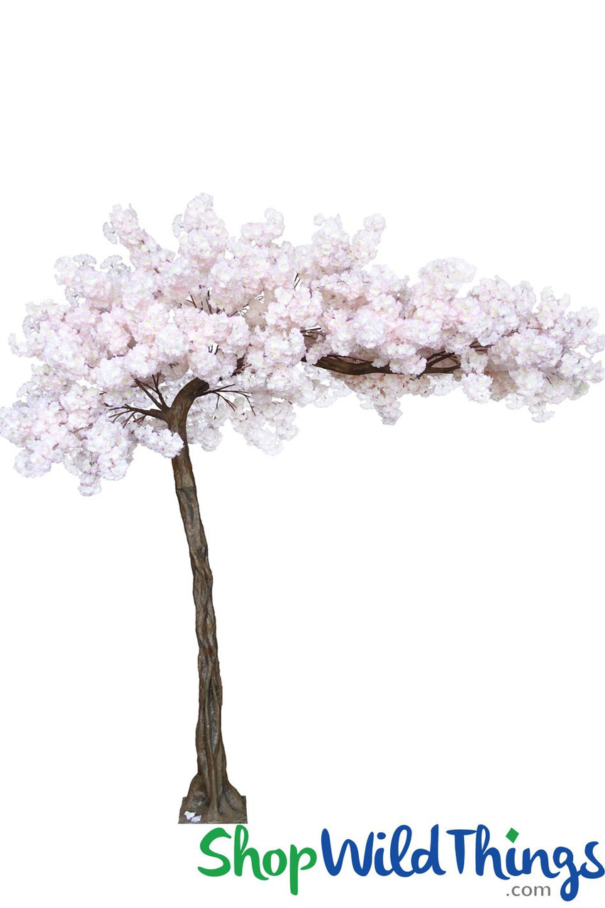 Artificial Flowering Cherry Blossom Tree Blush Pink | ShopWildThings.com