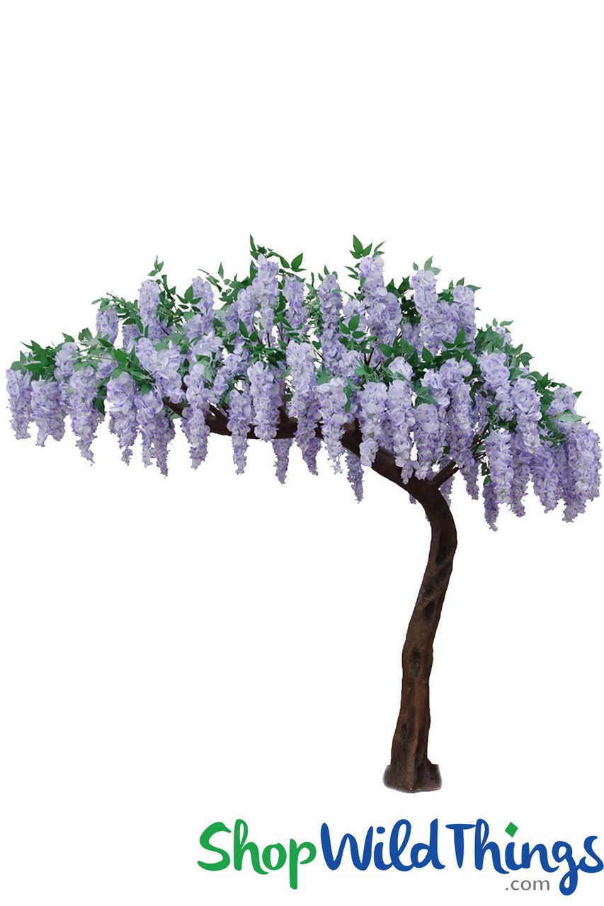 Artificial Wisteria Tree Purple White Ceremony Arch