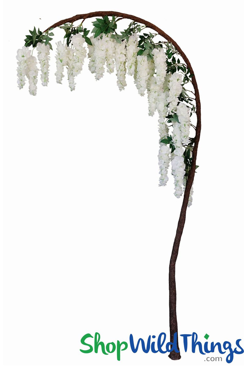 Flowering Wedding Tree Arch White Wisteria Artificial 7 5 H X 3