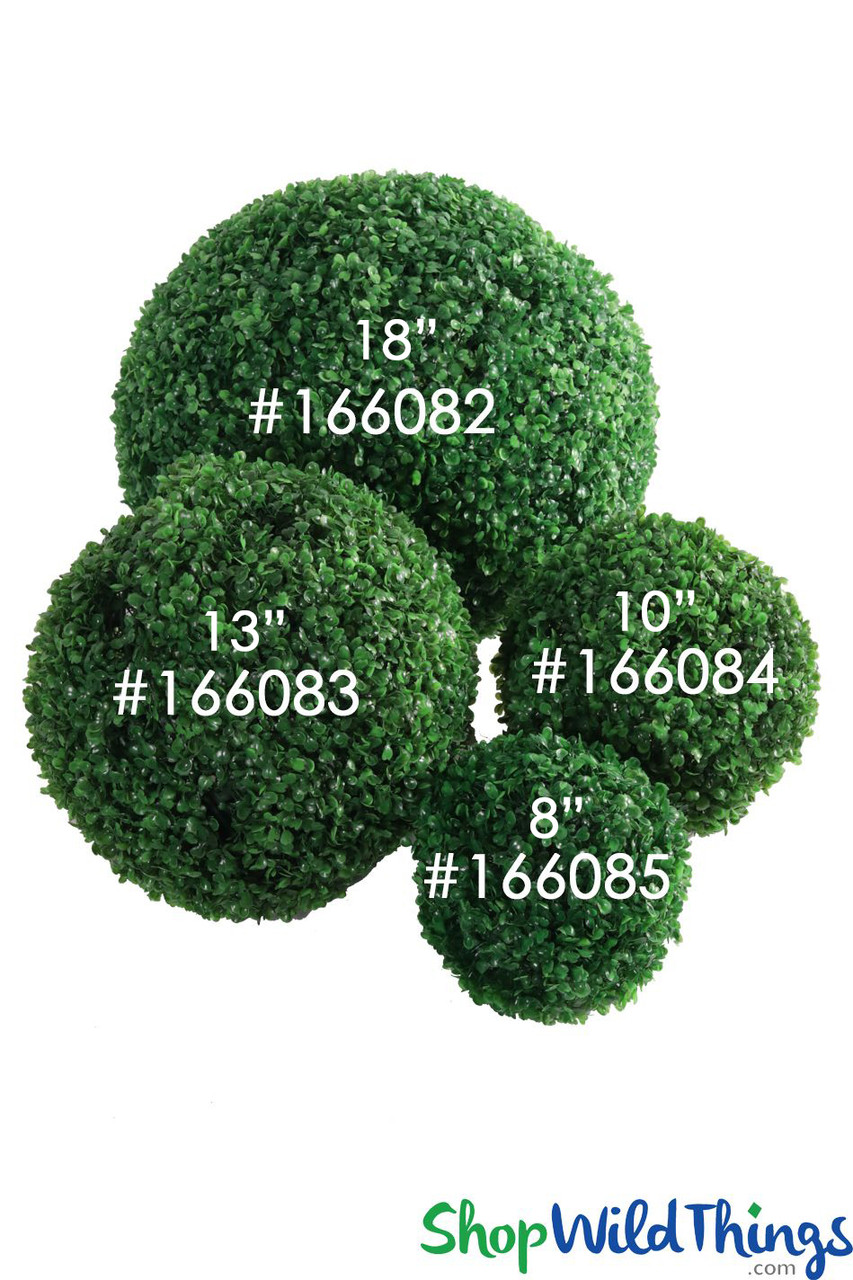 Artificial Boxwood Topiary Ball Shopwildthings Com