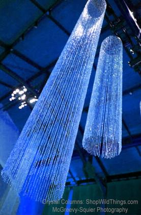 Sparkling Crystal Columns
