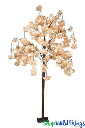 Peachy Pink Flowering Silk Dogwood Tree, 6' Floor or Centerpiece Tree by ShopWildThings