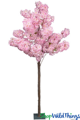 Pink Artificial Flowers Tree 6 Feet Tall ShopWildThing Event Trees
