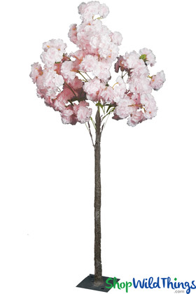 "Flowering Tree, Artificial Dogwood 4' 8"" Tall -  Blush Pink"