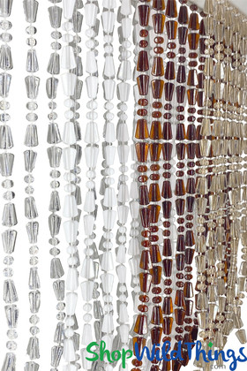 ShopWildThings made in USA custom beaded curtains - Choose your Color and Size