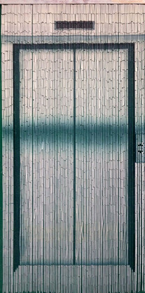 "Bamboo Painted Beaded Curtain ""Going Up Elevator"" - 90 Strands"