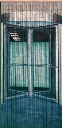 "Bamboo Painted Beaded Curtain ""Revolving Door"" - 90 Strands"