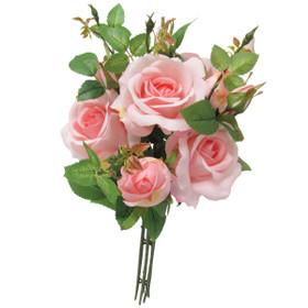 Pink Rose Bouquet   Artificial Rose Spray   Wedding Centerpiece Flowers   ShopWildThings.com