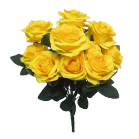 Bright Flower Bouquets   Artificial Rose Bush Spray   Yellow Silk Wedding Floral Centerpieces   ShopWildThings.com