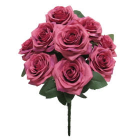 Dark Mauve Artificial Flower Bouquet - ShopWildThings