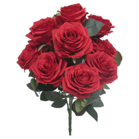 Red Rose Bush Flower Spray | Artificial Centerpiece Bouquets | Red Silk  Roses | ShopWildThings.com