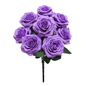 Purple Rose Bush Flower Spray   Artificial Centerpiece Bouquets   Silk  Roses   ShopWildThings.com