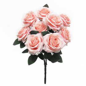 Artificial Wedding Bouquet | Silk Rose Bush Spray | Faux Pink  Flowers | ShopWildThings.com