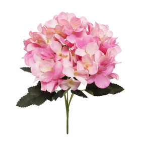 Pink Faux Hydrangea Bloom Flowers - ShopWildThings.com