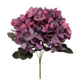 Artificial Purple Hydrangea Flower Bouquet   Silk  Wedding Sprays   ShopWildThings.com