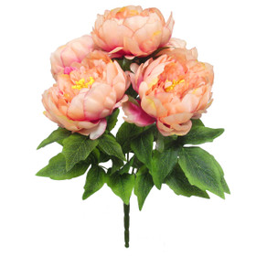 Artificial Peach Peony Bush | Large Wedding Bouquet | ShopWildThings.com