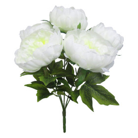 White Wedding Flowers | Artificial Peony Bouquet | ShopWildThings.com