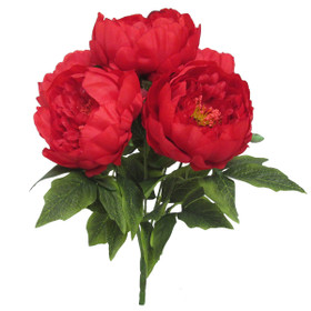 Artificial Red Peony Bouquet | Quality Silk Wedding Flowers | ShopWildThings.com