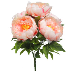 Artificial Pink Peony Bouquet | Flowers With Large Blossoms | ShopWildThings.com