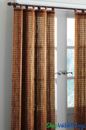 Honey Brown Bamboo Curtain with Tab Tobs - ShopWildthings.com
