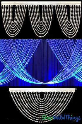 Elegant Crystal Swag | Sparkling Window Dressing | ShopWildThings.com