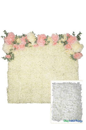 Flower Wall Backdrop Kit Hydrangeas | ShopWildThings.com