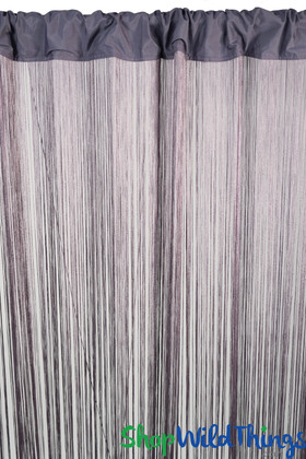 Purple String Curtain Fringe Panel for Doors and Windows