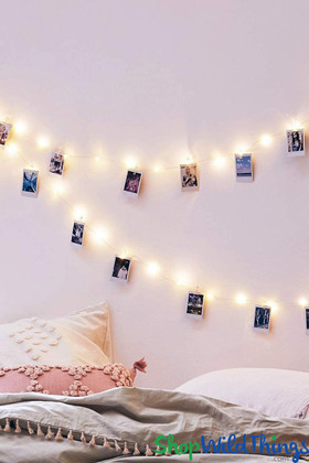 Lighted Photo Clip Holder | 5' Long String Light | ShopWildThings.com