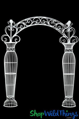Large Wedding Arch Arbor White Metal Extra Large | ShopWildThings.com