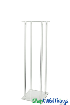 Clear Rectangular Tall Floral Riser Stand Harlow Display ShopWildThings.com
