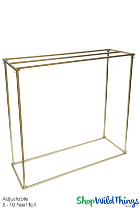 Gold Metal Stand for Tabletop Hanging Candles, Florals & Chandeliers ShopWildThings.com