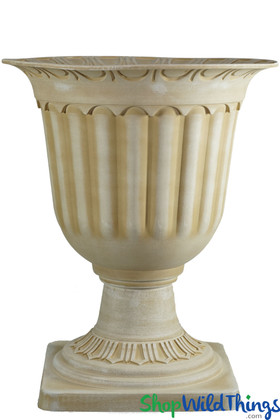 Cream Planter Urn Grecian Flower Pot for Wedding, Home, Events, Restaurant Display