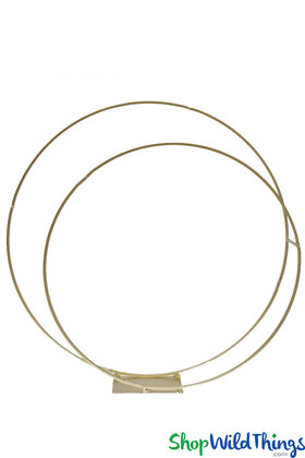 Gold Metal Double Circles Backdrop Stand for Flowers and Balloons ShopWildThings.com
