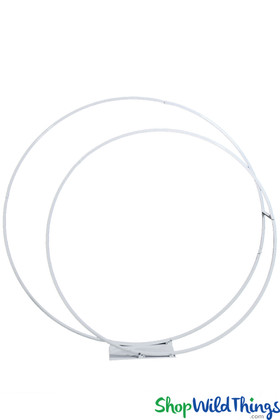 Double Circle Wedding Arch Backdrop ShopWildthings White Metal Stand