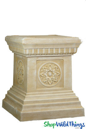 Grecian Pedestal for Urns and Floral Displays Cream ShopWildThings