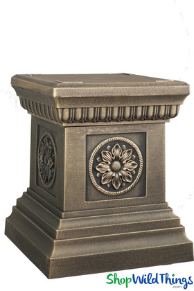 Pedestal Riser for Urn Planters and Florals Antique Bronze ShopWildThings.com