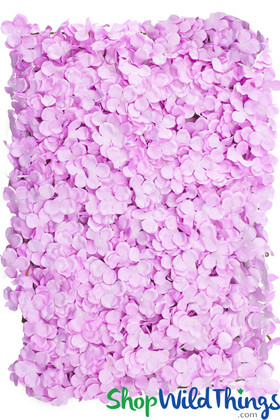 Lavender Lilac Flower Wall Hydrangea Silk Flower Backdrops ShopWildThings