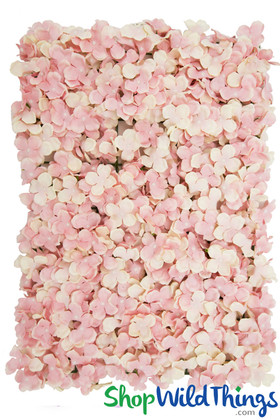 Blush Pink Silk Flowers Backdrop Panel Wall ShopWildThings
