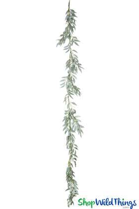 Artificial Smilax Vine Greenery Garland 6 Feet Long Frosted Green ShopWildThings