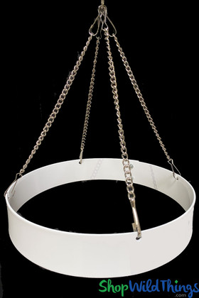 Metal Floral Chandelier Ring with Hanging Chain 1 Foot Diameter