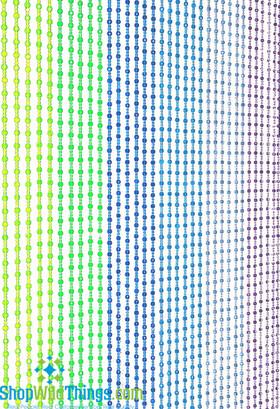 """Mini Pop Beaded Curtain - Blue, Purple & Green - 35"""" x 6'"""