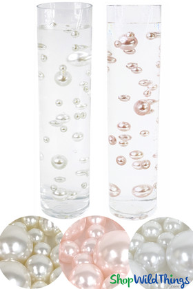 Floating Pearls Centerpiece Decor Set – Acrylic Pearls Suspended in Water Jelly Beads