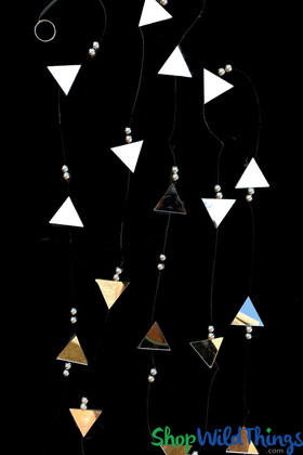 Real Mirrors Triangle Shaped Garland Strands 9 Feet Long Glass ShopWildThings