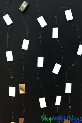 Rectangle Mirror Garland Strands 9 Feet Long Real Mirrors ShopWildthings