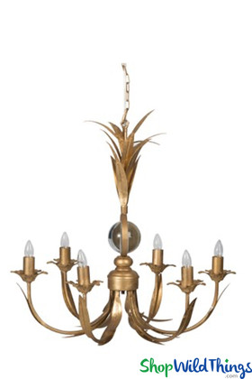 Multi-Arm Gold Chandelier, Modern Contemporary Lighting Fixture | ShopWildThings.com