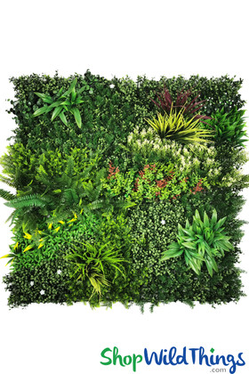 """Fantasy Greenery Wall Colorful Mix Plants and Flowers ShopWildThings 40"""" x 40"""""""