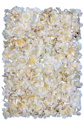 Light Peach Flower Wall Panels For Wedding & Event Backdrops by ShopWIldThings.com