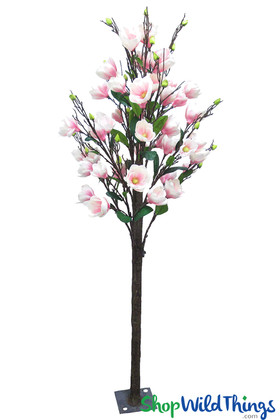 Artificial Flowering Pink Magnolia Tree Events Weddings Parties Table Centerpieces ShopWildThings.com