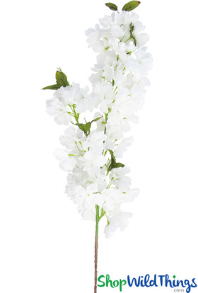 """Realistic Silk Sprays, Extra Full Triple Bloom, 37"""" Bendable Cherry Blossom Branches by ShopWildThings.com"""