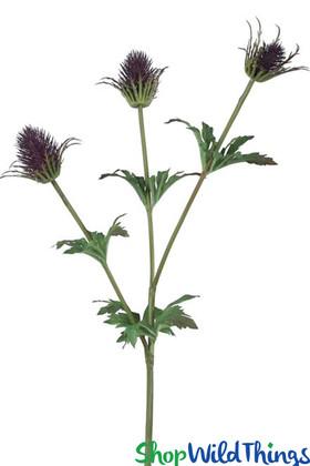 "Dark Thistle Purple Artificial Spray 33"" Long ShopWildThings Floral Design Picks"